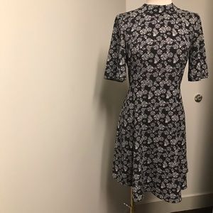 H&M Dresses - Black with little flowers dress never worn size 38